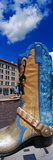 Cowboy Boot Sculpture in Downtown Cheyenne, Wyoming, USA Photographic Print by  Panoramic Images