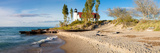 Lighthouse on the Coast, Point Betsie Lighthouse, Lake Michigan, Benzie County, Frankfort Photographic Print by  Panoramic Images
