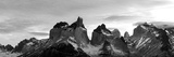 Snowcapped Mountain Range, Paine Massif, Torres Del Paine National Park, Magallanes Region Photographic Print by  Panoramic Images