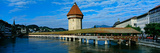 Chapel Bridge on the Reuss River, Lucerne, Switzerland Photographic Print by  Panoramic Images
