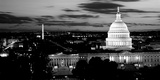 High Angle View of a City Lit Up at Dusk, Washington Dc, USA Photographic Print by  Panoramic Images