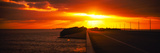Road at Sunset, Key Largo, Florida Keys, Florida, USA Photographic Print by  Panoramic Images