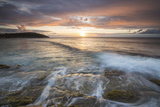 Waves Crash on Cliffs under a Colorful Caribbean Sunset, Galley Bay, St. John'S Photographic Print by Roberto Moiola
