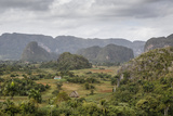 Mogotes in the Vinales Valley, UNESCO World Heritage Site, Pinar Del Rio, Cuba, West Indies Photographic Print by Yadid Levy