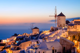 Windmill and Traditional Houses, Oia, Santorini (Thira), Cyclades Islands, Greek Islands Photographic Print by Karen Deakin