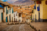 Cobblestone Street Scene, Cusco, Peru, South America Photographic Print by Laura Grier