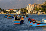 The Fishing Port with the Church in the Background, Phan Rang, Ninh Thuan Province Photographic Print by Nathalie Cuvelier