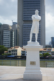 Statue of Sir Stamford Raffles by Boat Quay, Singapore, Southeast Asia, Asia Photographic Print by Fraser Hall