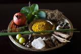Different Indian Spices on Display at Swaswara, Karnataka, India, Asia Photographic Print by Thomas L