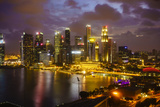The Towers of the Central Business District and Marina Bay at Dusk, Singapore, Southeast Asia, Asia Photographic Print by Fraser Hall
