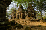 Temple of Prasat Pram (Prasat Bram), Dated 9th to 12th Century, Temple Complex of Koh Ker Photographic Print by Nathalie Cuvelier