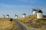 Don Quixote Windmills, Consuegra, Castile-La Mancha, Spain, Europe Photographic Print by Charles Bowman