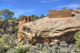 Ruins of Ancestral Puebloans, Dating from Between 900 Ad and 1200 Ad, Holly Group Photographic Print by Richard Maschmeyer