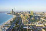 Skyline and Corniche, Al Markaziyah District, Abu Dhabi, United Arab Emirates, Middle East Fotografisk tryk af Fraser Hall