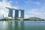 Marina Bay Sands Hotel and Lotus Flower Shaped Artscience Museum, Marina Bay, Singapore Photographic Print by Fraser Hall