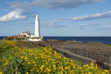 St. Mary's Lighthouse, Whitley Bay, Northumbria, England, United Kingdom, Europe Photographic Print by James Emmerson
