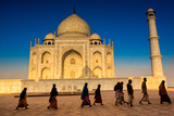 People Walking to Pray in Front of the Taj Mahal, UNESCO World Heritage Site, Agra Photographic Print by Laura Grier