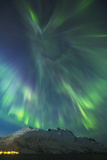 A Coronal Burst of Aurora Borealis (Northern Lights) During a Solar Storm in Northern Norway Photographic Print by Andy Farrer