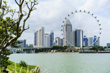The Singapore Flyer Ferris Wheel, Marina Bay, Singapore, Southeast Asia, Asia Photographic Print by Fraser Hall