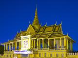 Moonlight Pavilion (Preah Thineang Chan Chhaya) of the Royal Palace at Dusk, Phnom Penh, Cambodia Photographic Print by Jason Langley