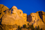 Sunrise at Mount Rushmore, Black Hills, South Dakota, United States of America, North America Photographic Print by Laura Grier