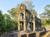 Prasat Preah Khan Temple Ruins, Angkor, UNESCO World Heritage Site, Siem Reap Province, Cambodia Photographic Print by Jason Langley