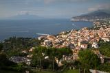 View of Vesuvio and Terrheinian Sea from Above Sorrento, Costiera Amalfitana (Amalfi Coast) Fotografie-Druck von Frank Fell
