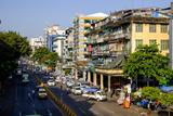 Merchant Road, Old City, Yangon (Rangoon), Myanmar (Burma), Asia Papier Photo par Nathalie Cuvelier