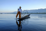 Intha Ethnic Group Fisherman, Inle Lake, Shan State, Myanmar (Burma), Asia Photographic Print by Nathalie Cuvelier