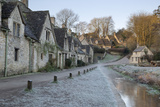 Arlington Row Cotswold Stone Cottages on Frosty Morning, Bibury, Cotswolds Photographic Print by Stuart Black