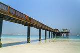 A Pier on Jumeirah Beach, Dubai, United Arab Emirates, Middle East Photographic Print by Fraser Hall