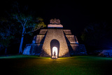 Night Portrait of Pyramid at Tikal, UNESCO World Heritage Site, Guatemala, Central America Photographic Print by Laura Grier
