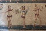 Mosaic, Villa Romana Del Casale, Piazza Armerina, UNESCO World Heritage Site, Sicily, Italy, Europe Photographic Print by Vincenzo Lombardo