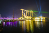 The Nightly Light and Laser Show in Marina Bay from the Marina Bay Sands, Singapore, Southeast Asia Photographic Print by Fraser Hall