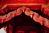 Stone Carving Detail, Red Fort, Delhi, India, Asia Photographic Print by Laura Grier