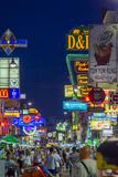 Khaosan Road at Night, Bangkok, Thailand, Southeast Asia, Asia Photographic Print by Jason Langley