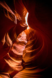 Sandstone Sculpted Walls, Upper Antelope Canyon, Arizona, United States of America, North America Photographic Print by Laura Grier