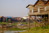 Stilt Houses in Village Along the Tonle Sap Lake, Kompong Kleang Village, Siem Reap Province Photographic Print by Nathalie Cuvelier