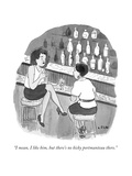 """""""I mean, I like him, but there's no kicky portmanteau there."""" - New Yorker Cartoon Premium Giclee Print by Emily Flake"""