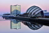 Sunrise at the Clyde Auditorium (The Armadillo), Glasgow, Scotland, United Kingdom, Europe Photographic Print by Karen Deakin