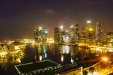 The Towers of the Central Business District and Marina Bay by Night, Singapore, Southeast Asia Photographic Print by Fraser Hall