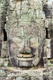 Carved Stone Faces at Prasat Bayon Temple Ruins, Angkor Thom, UNESCO World Heritage Site Photographic Print by Jason Langley