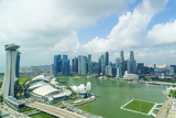 The Towers of the Central Business District and Marina Bay in the Morning, Singapore Photographic Print by Fraser Hall