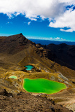 The Emerald Lakes, Tongariro National Park, UNESCO World Heritage Site, North Island, New Zealand Photographic Print by Laura Grier