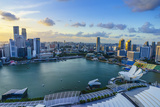 The Towers of the Central Business District and Marina Bay at Sunset, Singapore, Southeast Asia Photographic Print by Fraser Hall