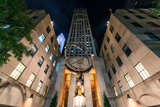 Atlas Statue, Rockerfeller Centre, New York City, United States of America, North America Photographic Print by Karen Deakin