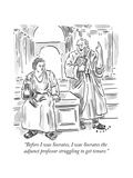 """Before I was Socrates, I was Socrates the adjunct professor struggling to..."" - New Yorker Cartoon Premium Giclee Print by Brendan Loper"