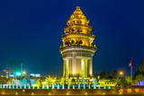 Independence Monument at Night, Phnom Penh, Cambodia, Indochina, Southeast Asia, Asia Photographic Print by Jason Langley