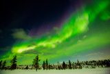 Aurora Borealis (The Northern Lights) over Kakslauttanen Igloo West Village, Saariselka, Finland Photographic Print by Laura Grier