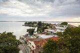 View over Punta Gorda and the Cienfuegos Bay, Cienfuegos, Cuba, West Indies, Caribbean Photographic Print by Yadid Levy
